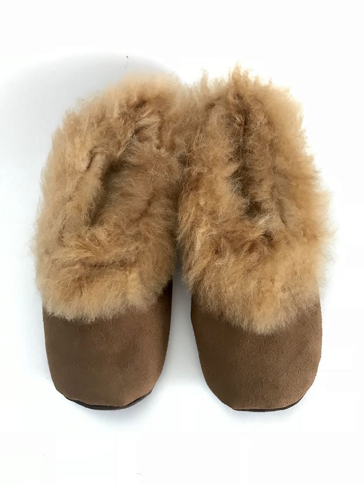 fa8547f4e580 Chocolate brown Alpaca Fur slippers - El Mercado Peru
